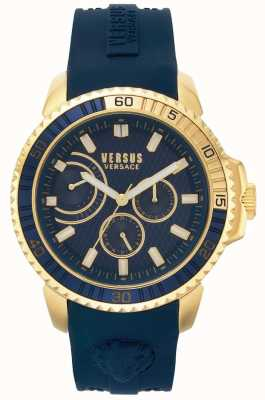 Versus Versace | uomo aberdeen | cinturino in caucciù blu | quadrante blu | VSPLO0219