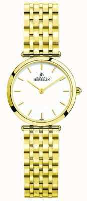 Michel Herbelin | donne | epsilon | braccialetto extra piatto in oro pvd | 17116/BP11