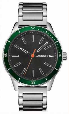 Lacoste | mens key west | bracciale in acciaio inossidabile quadrante grigio | 2011009
