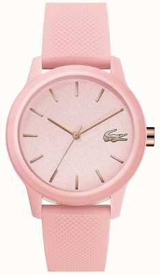 Lacoste | donna 12-12 | cinturino in silicone rosa | quadrante rosa | 2001065