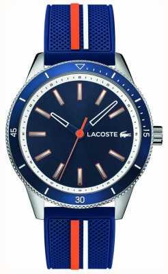 Lacoste | mens key west | cinturino in silicone blu | quadrante blu | 2011007