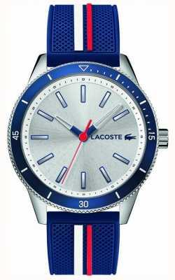 Lacoste | mens key west | cinturino in silicone blu | quadrante argento | 2011006