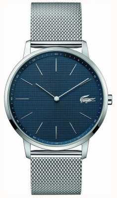 Lacoste | luna maschile | bracciale a maglie d'acciaio | quadrante blu | 2011005