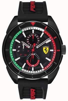 Scuderia Ferrari | mens forza | cinturino in caucciù nero | quadrante cronografo nero | 0830577