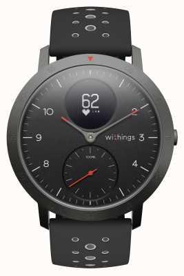 Withings Acciaio hr sport 40 mm quadrante nero cinturino in silicone nero HWA03B-40BLACK-SPORT-ALL-INTER
