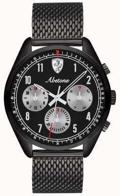 Scuderia Ferrari | uomo abetone | braccialetto a maglie nere | quadrante nero | 0830573