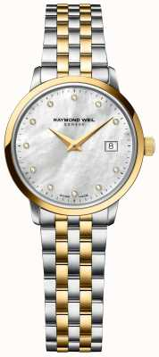 Raymond Weil | donna toccata diamante | cinturino in acciaio inossidabile bicolore 5985-STP-97081