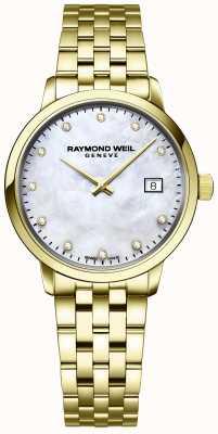 Raymond Weil | donna toccata diamante | bracciale in acciaio inossidabile dorato | 5985-P-97081