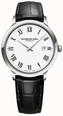 Raymond Weil | mens toccata | cinturino in pelle nera | quadrante bianco | 5485-STC-00300
