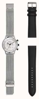 Breil | orologio da uomo in maglia di acciaio inossidabile | cinturino in pelle extra | TW1806