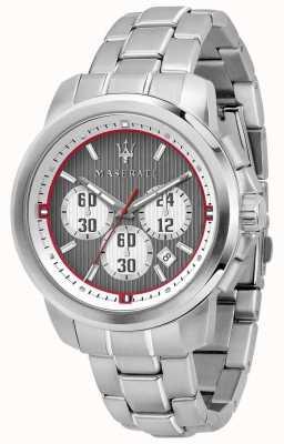 Maserati Cronografo Royale cinturino in acciaio inossidabile con quadrante grigio R8873637003