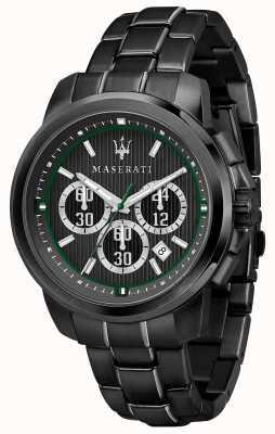 Maserati Cronografo Royale nero quadrante nero acciaio placcato pvd R8873637004