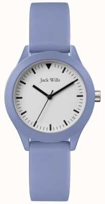 Jack Wills | cinturino in gomma blu da donna | quadrante bianco | JW008LTBL