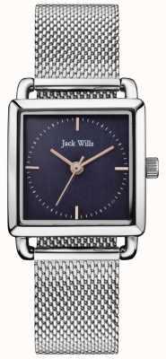 Jack Wills | orologio da donna scolpito in acciaio quadrante blu | JW016NVSL