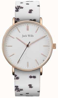 Jack Wills | signore sandhill silicio bianco | quadrante bianco | JW018FLWH