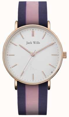 Jack Wills | cinturino in silicone twotone sandhill da donna | quadrante bianco | JW018PKBL