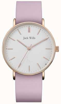 Jack Wills | cinturino in silicone rosa sandhill da donna | quadrante bianco | JW018WHPK