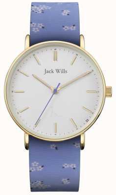 Jack Wills | cinturino in silicone blu sandhill da donna | quadrante bianco | JW018FLBL
