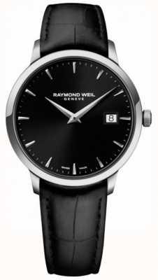 Raymond Weil | mens toccata pelle nera | quadrante nero | 5485-STC-20001