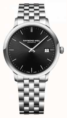 Raymond Weil | bracciale in acciaio inossidabile toccata | quadrante nero | 5485-ST-20001