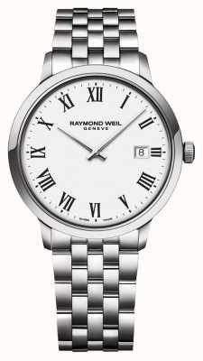 Raymond Weil | bracciale da uomo toccata in acciaio | quadrante bianco | 5485-ST-00300