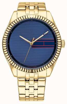 Tommy Hilfiger | acciaio inossidabile da donna color oro | quadrante blu | 1782081
