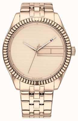 Tommy Hilfiger | bracciale da donna in acciaio inossidabile oro rosa | diametro oro rosa 1782082