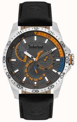 Timberland | orologio da uomo Oakham | cinturino in pelle nera | quadrante grigio | 15641JS/13