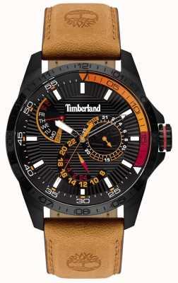 Timberland | orologio da uomo Oakham | cinturino in pelle marrone chiaro | quadrante nero | 15641JSB/02
