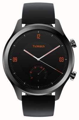 TicWatch C2 | smartwatch onice | cinturino in pelle nera 130688-WG12036-ONYX