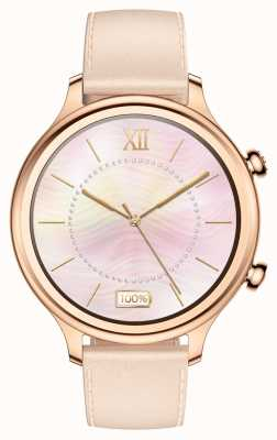 TicWatch C2 | smartwatch in oro rosa | Cinturino in pelle 131584-WG12056-RG
