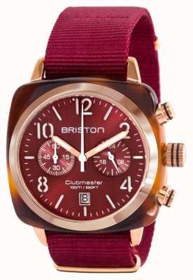 Briston Cinturino classico rosso oro clubman acetato oro 15140.PRA.T.8.NBDX