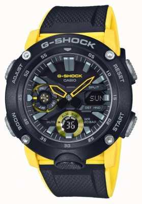Casio | guardia del nucleo di carbonio g-shock | cinturino giallo nero | GA-2000-1A9ER
