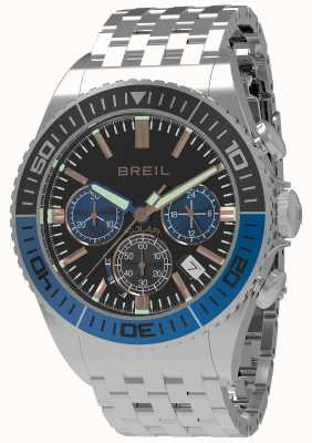 Breil | mens manta 1970 solar | quadrante nero | ghiera nera / blu | TW1820