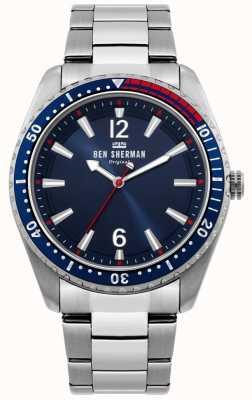 Ben Sherman | orologio da uomo ronnie diver | quadrante blu sunray | WB037USM