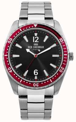 Ben Sherman | orologio da uomo ronnie diver | quadrante nero sunray | WB037ESM