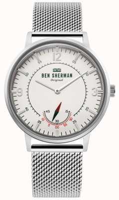 Ben Sherman | mens portobello patrimonio | fuori dal quadrante bianco | maglia inossidabile WB034SM