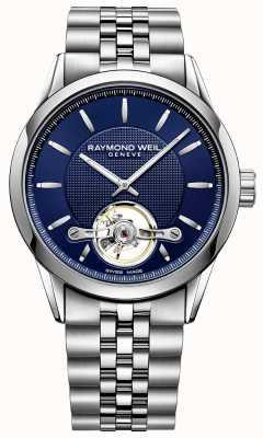 Raymond Weil Libero professionista maschile quadrante blu in acciaio inossidabile 2780-ST-50001