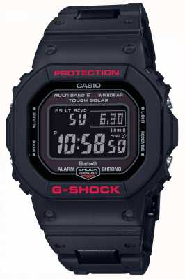 Casio Mens g-shock heritage cinturino in resina nera digitale GW-B5600HR-1ER