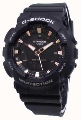 Casio Tracolla in resina nera con tracker G-shock GMA-S130PA-1AER
