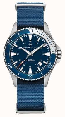 Hamilton | scuba navy kaki automatico | cinturino in tessuto blu | quadrante blu H82345941