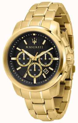 Maserati Successo orologio da uomo placcato in oro R8873621013