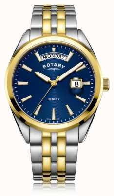 Rotary | mens henley | quadrante blu | bracciale in acciaio inossidabile GB05291/05