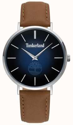 Timberland | mens rangeley | pelle marrone | quadrante blu | 15514JS/03