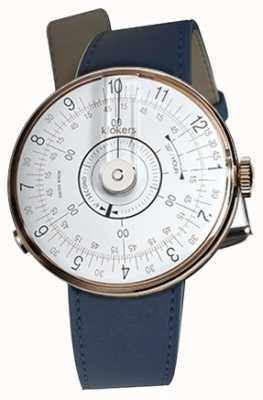 Klokers Klok 08 cinturino singolo blu per orologio testa indaco blu KLOK-08-D1+KLINK-01-MC3