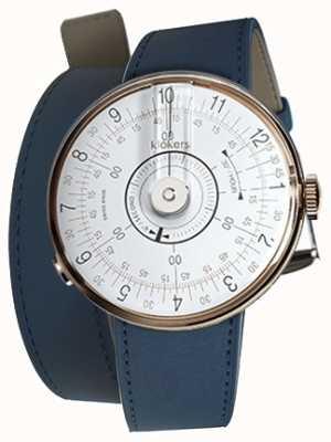 Klokers Klok 08 cinturino doppio orologio blu testa indaco bianco KLOK-08-D1+KLINK-02-380C3