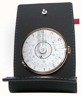 Klokers Klok 08 porta orologio da orologio bianco e tasca KLOK-08-D1+KPART-01-C2