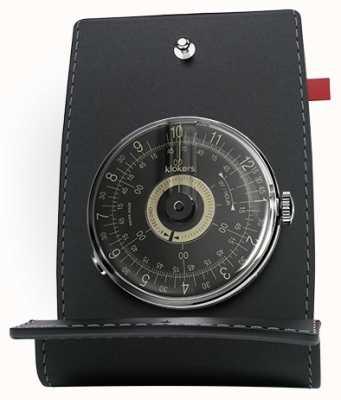 Klokers Klok 08 quadrante dell'orologio con quadrante nero e tasca KLOK-08-D3+KPART-01-C2