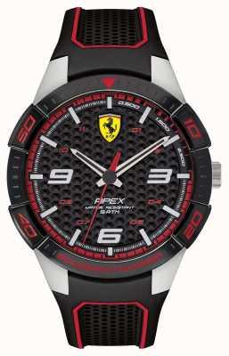 Scuderia Ferrari | apice maschile | cinturino in caucciù nero | quadrante nero | 0830630