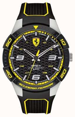 Scuderia Ferrari | apice maschile | cinturino in caucciù nero | quadrante nero / giallo | 0830631